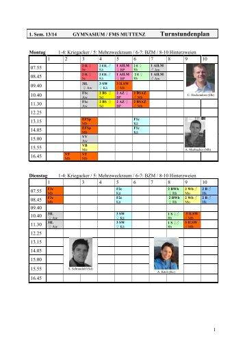 Turnstundenplan - Gymnasium Muttenz