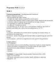 Programme MAR- 1, 2, 3, 4 MAR- 1