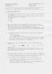 Thierstein 4242 Laufen Maturitätsprüfungen 2008 Fach: Chemie ...