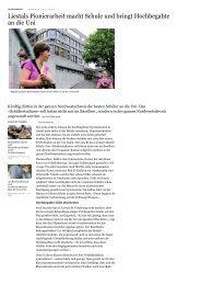 Basellandsch. Zeitung 18.10.11 - Gymnasium Liestal