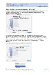 iMap Account erstellen(erster Start von Mail)