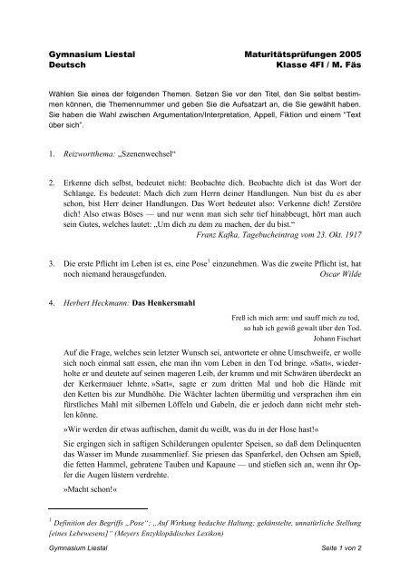 Deutsch 4FI 2005.pdf - Gymnasium Liestal