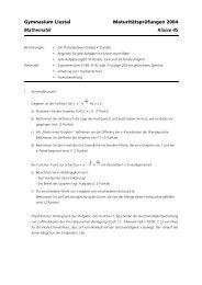 Matur Mathematik 4S 2004.pdf - Gymnasium Liestal