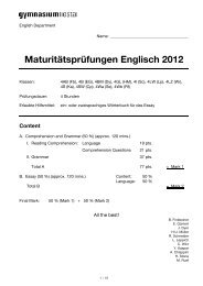 English Matura 2012_v3.2 - Gymnasium Liestal