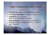 Naturwissenschaft und Technik - Christophorus-Gymnasium Altensteig