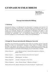 Konzept zur interkulturellen Bildung - Gymnasium Emlichheim