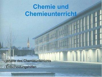 Chemie und Chemieunterricht - Gymnasium Eckental
