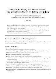 ein Gesprächsleitfaden für Eltern und Lehrer - Gymnasium Eckental