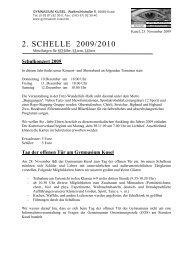 2. SCHELLE 2009/2010 - des Gymnasiums Kusel