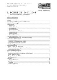 1. SCHELLE 2007/2008 - des Gymnasiums Kusel