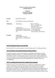 SEB-Protokoll 09.09.08 - Gymnasium Marienstatt