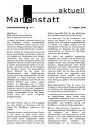 Schulnachrichten Jg. 10/1 21. August 2008 - Gymnasium Marienstatt
