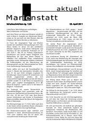 Schulnachrichten Jg. 12/6 Schulnachrichten Jg. 12/6 05. April 2011
