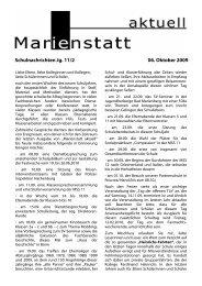Schulnachrichten Jg. 11/2 06. Oktober 2009 - Gymnasium Marienstatt