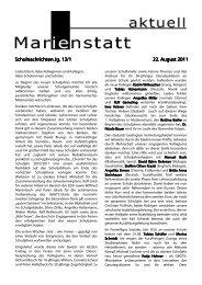 Schulnachrichten Jg. 13/1 Schulnachrichten Jg. 13/1 - Gymnasium ...
