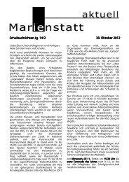 Schulnachrichten Jg. 14 Schulnachrichten Jg. 14/2 30. Oktober 2012