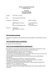 SEB-Protokoll 25.05.10 - Gymnasium Marienstatt