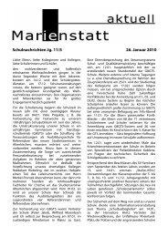 Schulnachrichten Jg. 11/5 26. Januar 2010 - Gymnasium Marienstatt