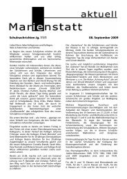 Schulnachrichten Jg. 11/1 08. September 2009 - Gymnasium ...