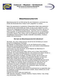 Konzept zum Bläserklassenunterricht - Gymnasium Marsberg