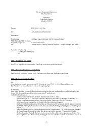 Protokoll Ordentliche Sitzung Schuljahr 2012/13 Termin