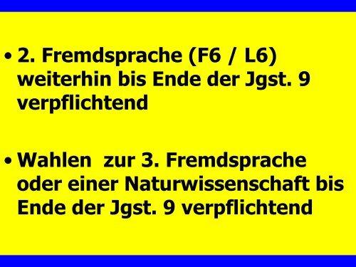 Wahlen zum Wahlpflichtbereich Klasse 8 u. 9 - Gymnasium Marsberg