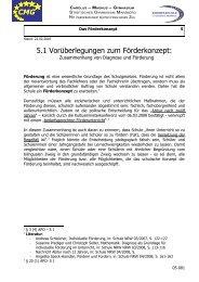 5.1 Vorüberlegungen zum Förderkonzept: - Gymnasium Marsberg