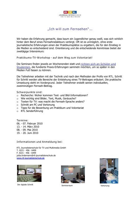 Journalistenschule RTL.pdf - Gymnasium Marsberg
