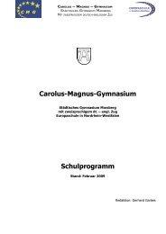 Carolus-Magnus-Gymnasium Schulprogramm - Gymnasium Marsberg