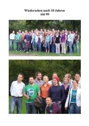 Wiedersehen nach 10 Jahren Abi 99 - Gymnasium Marsberg