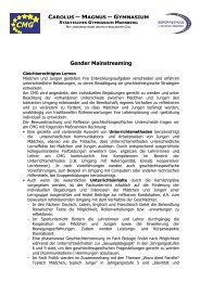 Konzept zum Gender Mainstreaming - Gymnasium Marsberg
