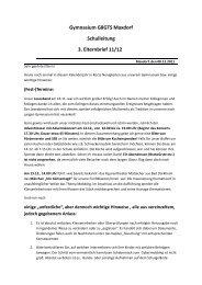 Gymnasium G8GTS Maxdorf Schulleitung 3. Elternbrief 11/12