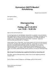 Elternsprechtag 2013 - Gymnasium Maxdorf