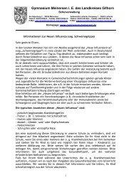 Informationen für Schüler und Eltern - Gymnasium Meinersen