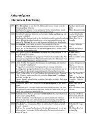 Abituraufgaben Literarische Erörterung - Gymnasium Neutraubling