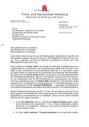 Erster Schulbrief der Senatorin Christa Goetsch - Gymnasium ...