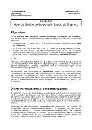 Merkblatt Schülerbeförderung - Gymnasium Sulingen