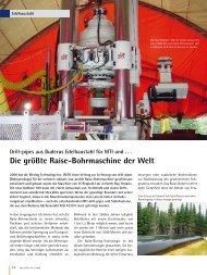 Drill-pipes aus Buderus Edelbaustahl für MTI und . . . Die größte ...