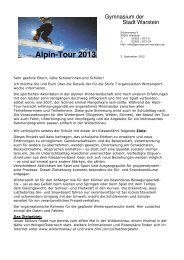 Erstes Infoschreiben und Anmeldevordruck - Gymnasium Warstein