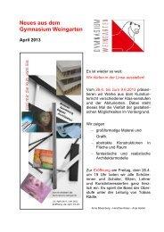 Ausgabe 2/2013 (April) - Gymnasium Weingarten