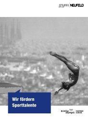 Wir fördern Sporttalente - Gymnasium Neufeld