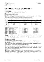 Informationen zum Triathlon 2012 - Gymnasium Neufeld