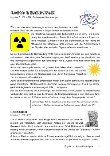 Atom- & Kernphysik, Radioaktivität, Kernenergie (29.10.11)
