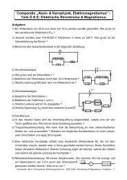 Elektromagnetismus - Stromkreise, Magnetismus - Aufgaben