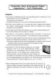 Elektrostatik - Aufgaben
