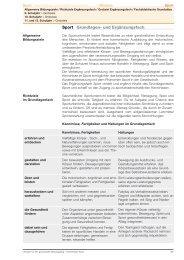 Sport Grundlagen- und Ergänzungsfach - Gymnasium Neufeld
