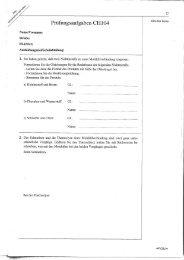 f' Prüfungsaufgaben CHl04 Bitte frei lassen
