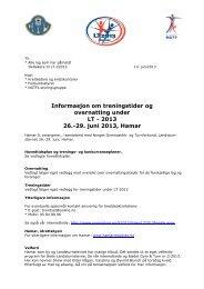 Infoskriv bredde - Norges gymnastikk og turnforbund