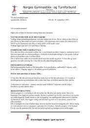 Informasjonsskrivet finner du her - Norges gymnastikk og turnforbund