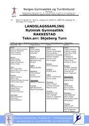 Skjeberg Turn - Norges gymnastikk og turnforbund
